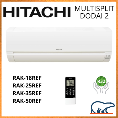 HITACHI Unités Intérieures Murales – DODAI 2 – R32 – RAK-15QEF/RAK-(18/25/35/50)REF