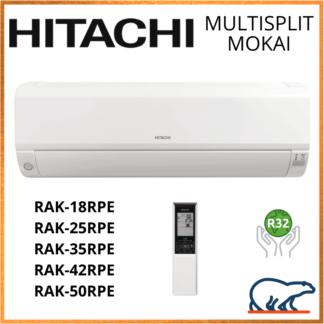 HITACHI Unités Intérieures Murales – MOKAI RAK-15QPE/RAK-(18/25/35/42/50)RPE